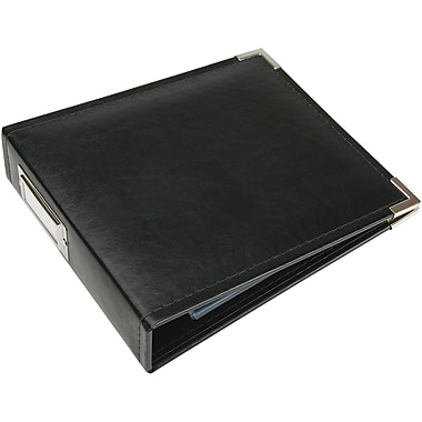 We R Memory Keepers Faux Leather 3-Ring Binder, 6in. x 6in., Black
