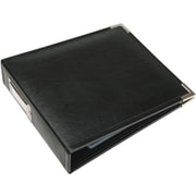 We R Memory Keepers Faux Leather 3-Ring Binder, 6 x 6, Black