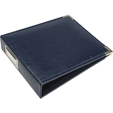 We R Memory Keepers Faux Leather 3-Ring Binder, 6in. x 6in., Navy