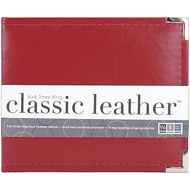 We R Memory Keepers Faux Leather 3-Ring Binder, 6in. x 6in., Red