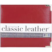 We R Memory Keepers Faux Leather 3-Ring Binder, 6 x 6, Red