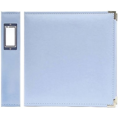 We R Memory Keepers Faux Leather 3-Ring Binder, 8.5in. x 11in., Baby Blue