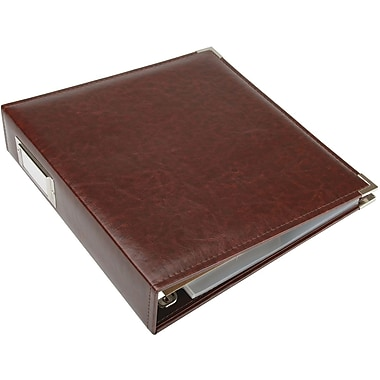 We R Memory Keepers Faux Leather 3-Ring Binder, 8.5in. x 11in., Cinnamon