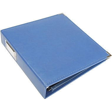We R Memory Keepers Faux Leather 3-Ring Binder, 8.5in. x 11in., Country Blue