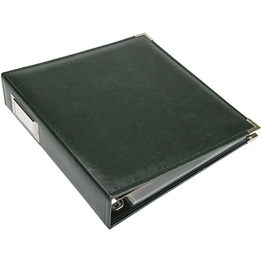 We R Memory Keepers Faux Leather 3-Ring Binder, 8.5in. x 11in., Forest Green