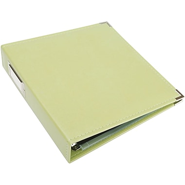 We R Memory Keepers Faux Leather 3-Ring Binder, 8.5in. x 11in., Kiwi