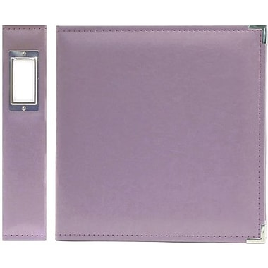 We R Memory Keepers Faux Leather 3-Ring Binder, 8.5in. x 11in., Lilac