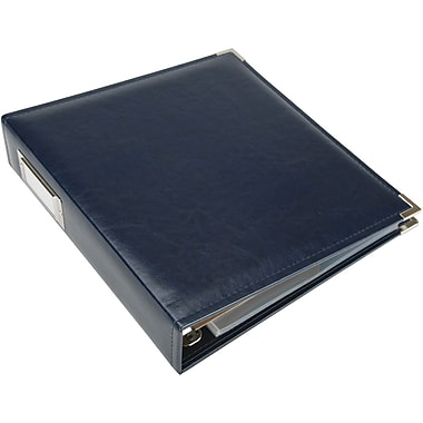 We R Memory Keepers Faux Leather 3-Ring Binder, 8.5in. x 11in., Navy