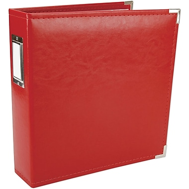 We R Memory Keepers Faux Leather 3-Ring Binder, 8.5in. x 11in., Red