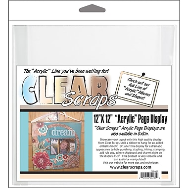 Clear Scraps Acrylic Page Frame, 12in. x 12in., Clear
