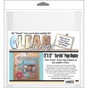 "Clear Scraps Acrylic Page Frame, 12"" x 12"", Clear"