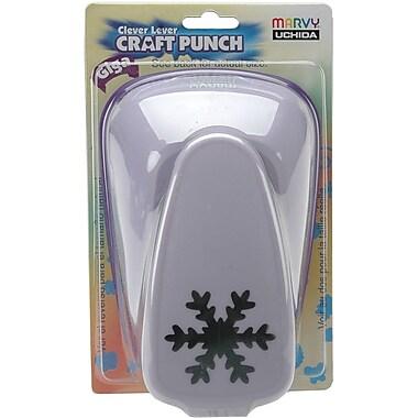 Uchida Clever Lever Giga Craft Punch, Snowflake