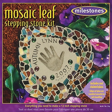 Midwest Products Mosaic Leaf Stepping Stone Kit
