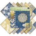 K&Company Blue Awning Double-Sided Specialty Paper Pad 12in. x 12in.-24 Sheets