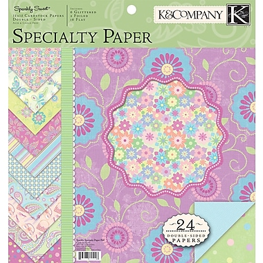 K&Company Sparkly Sweet Double-Sided Specialty Paper Pad 12in. x 12in. 24/Sh-2 Each Of 12 Designs