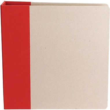 American Crafts Modern D-Ring Album, 8.5in. x 11in., Red