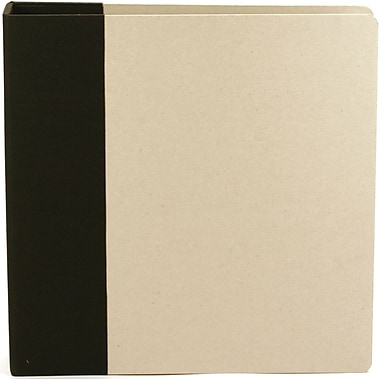 American Crafts Modern D-Ring Album, 8.5in. x 11in., Black