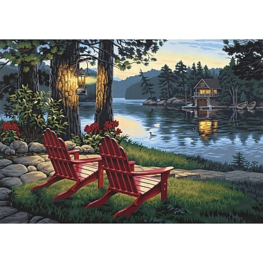 Dimensions Paint By Number Kit, 20in. x 14in., Adirondack Evening