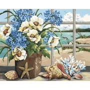 "Dimensions Paint By Number Craft Kit Painting, 20"" x 16"", Seaside Still Life (91360)"