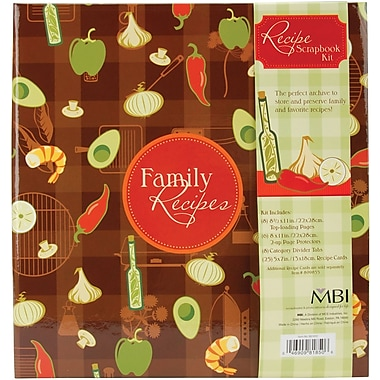 MBI Family Recipes 3-Ring Scrapbook Kit