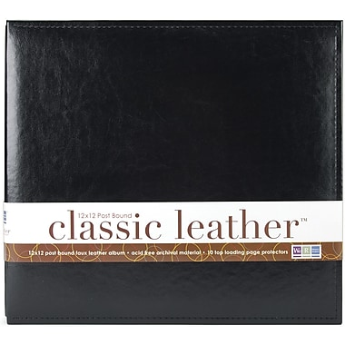 We R Memory Keepers We R Classic Leather Postbound Album, 12in. x 12in., Black