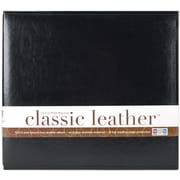 We R Memory Keepers We R Classic Leather Postbound Album, 12 x 12, Black
