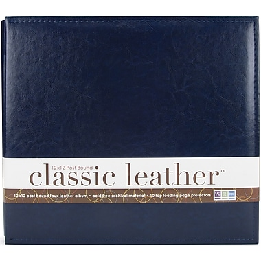 We R Memory Keepers We R Classic Leather Postbound Album, 12in. x 12in., Navy