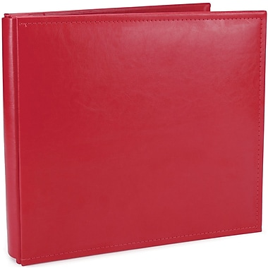 We R Memory Keepers We R Classic Leather Postbound Album, 12in. x 12in., Real Red