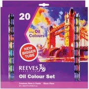 Reeves Oil Paint, 22ml, 20/Pkg, Assorted Colors
