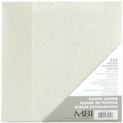"MBI Embossed Gardenia Pearl Photo Album-Holds 2-Up 4"" x 6"" Photos, 200 Capacity"