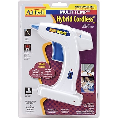 Ad-Tech Multi-Temp Hybrid Cordless Glue Gun, White