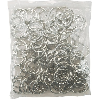 Clear Scraps Chrome Book Ring, 1in., 100/Bag