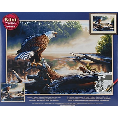 Dimensions Paint By Number Kit, 20in. x 14in., Eagle Hunter