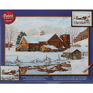 Dimensions Paint By Number Kit, 20in. x 14in., Winter Reflections