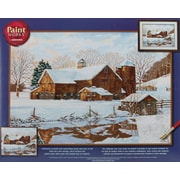 "Dimensions Paint By Number Craft Kit Painting, 20"" x 14"", Winter Reflections (91381)"