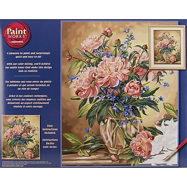 Dimensions Paint By Number Kit, 16in. x 20in., Peony Floral