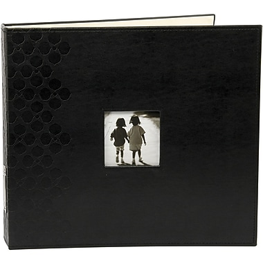 Making Memories Embossed Leather 3-Ring Album W/Window, 12in. x 12in., Black