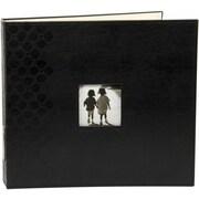 Making Memories Embossed Leather 3-Ring Album W/Window, 12 x 12, Black
