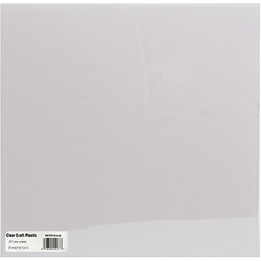 Grafix Craft Plastic Sheets 12in. x 12in. 25/Pkg-Clear .07