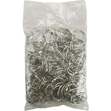 Clear Scraps Chrome Book Ring, 1.25in., 100/Bag