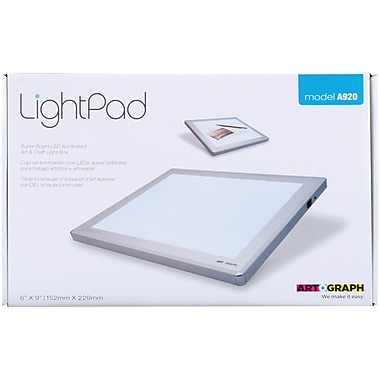 Artograph Light Pad Light Box, 11.6in. x 14.6in. x .625in.