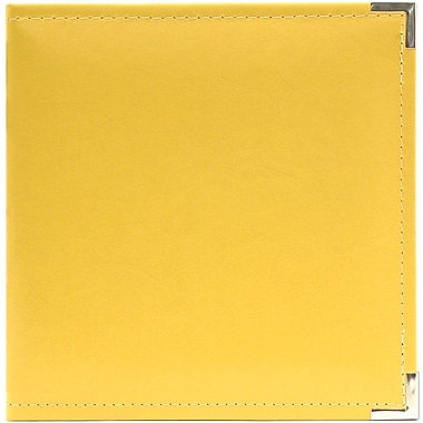 We R Memory Keepers Classic Leather Ring Binder, 5.5in. x 8.5in., Buttercup