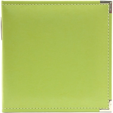 We R Memory Keepers Classic Leather Ring Binder, 5.5in. x 8.5in., Kiwi
