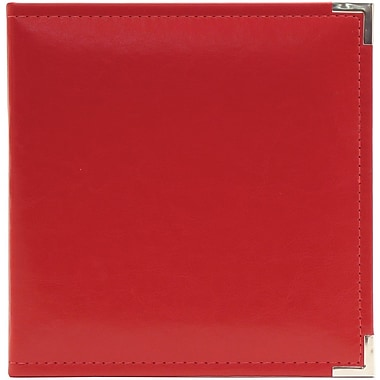 We R Memory Keepers Classic Leather Ring Binder, 5.5in. x 8.5in., Real Red