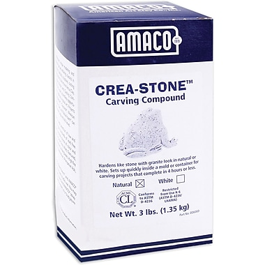 Amaco Crea-Stone, 3 Pounds/Pkg, Natural