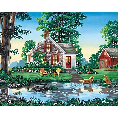 Dimensions Paint By Number Kit, 20in. x 16in., Summer Cottage