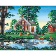 "Dimensions Paint By Number Craft Kit Painting, 16"" x 20"", Summer Cottage (91433)"