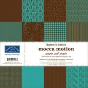 "Karen Foster Karen's Basics Paper Craft Stack, 12""X12"", Mocca Motion"
