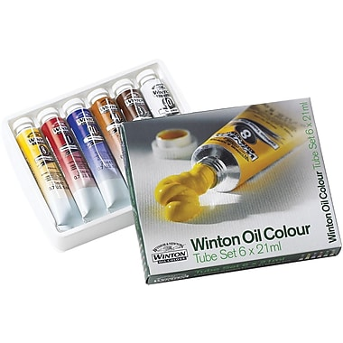 Reeves Winton Oil Paint, 21ml/Tube, 6/Pkg, Assorted Colors
