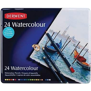Reeves Derwent Watercolor Pencil Tin, 24/Pkg